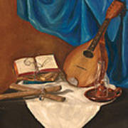 Dad's Mandolin Poster by Kathy Wood
