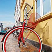 Danish Bike Poster by Robert Lacy