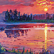 Daybreak Reflection Poster by David Lloyd Glover