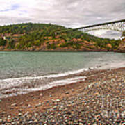 Deception Pass Washington Poster by Artist and Photographer Laura Wrede