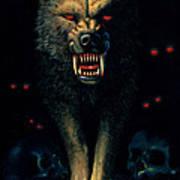 Demon Wolf Poster by MGL Studio - Chris Hiett