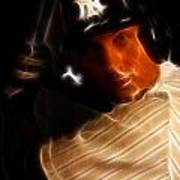 Derek Jeter - New York Yankees - Baseball  Poster by Lee Dos Santos