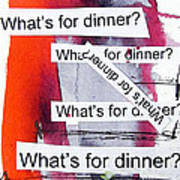 Dinner Poster by Linda Woods