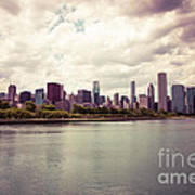 Downtown Chicago Skyline Lakefront Poster by Paul Velgos