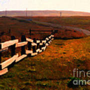 Driving Down The Lonely Highway . Study 2 . Painterly Poster by Wingsdomain Art and Photography