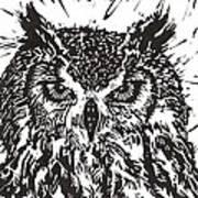 Eagle Owl Poster by Julia Forsyth