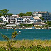 Edgartown Harbor Marthas Vineyard Massachusetts Poster by Michelle Wiarda