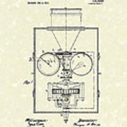 Edison Kinetoscope 1911 I Patent Art Poster by Prior Art Design