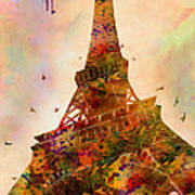 Eiffel Tower  Poster by Mark Ashkenazi