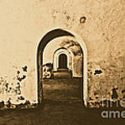 El Morro Fort Barracks Arched Doorways San Juan Puerto Rico Prints Rustic Poster by Shawn O'Brien