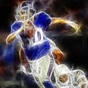Eli Manning Quarterback Poster by Paul Ward