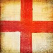 England Flag Poster by Setsiri Silapasuwanchai