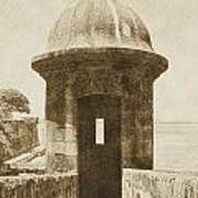Entrance To Sentry Tower Castillo San Felipe Del Morro Fortress San Juan Puerto Rico Vintage Poster by Shawn O'Brien