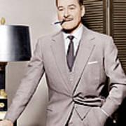 Errol Flynn, Ca. 1950s Poster by Everett
