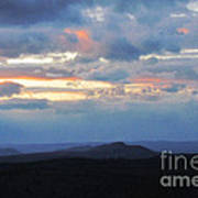 Evening Sky Over The Quabbin Poster by Randi Shenkman