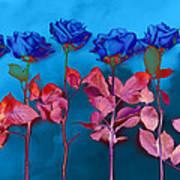 Fantasy Blues Poster by Michelle Wiarda