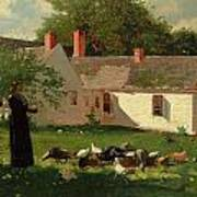 Farmyard Scene Poster by Winslow Homer