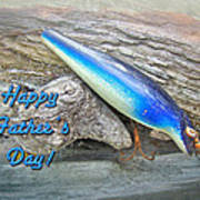 Fathers Day Greeting Card - Vintage Floyd Roman Nike Fishing Lure Poster by Mother Nature