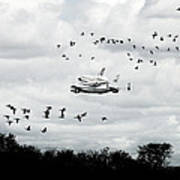 Final Flight Of The Enterprise Poster by Tolga Cetin