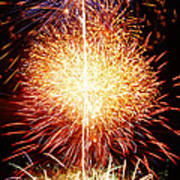 Fireworks_1591 Poster by Michael Peychich