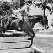 First Lady Jacqueline Kennedy, Riding Poster by Everett