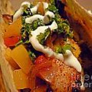 Fish Taco With Mango Salsa Poster by Renee Trenholm