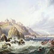 Fishing Boats Off Scotland Poster by John Wilson Carmichael