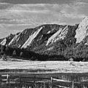Flatirons From Chautauqua Park Bw Poster by James BO  Insogna