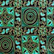 Floral Fabric Pattern Poster by Phalakon Jaisangat