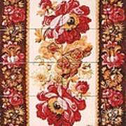 Florao Vermelho Poster by Paula Teresa