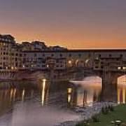 Florence - Ponte Vecchio Poster by Joana Kruse