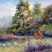 Florida Ibis Landscape Poster by Denise Horne-Kaplan