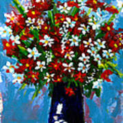 Flower Arrangement Bouquet Poster by Patricia Awapara