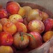 Food - Peaches - Farm Fresh Peaches  Poster by Mike Savad