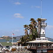 Forbes Island Restaurant With Alcatraz Island In The Background . San Francisco California . 7d14263 Poster by Wingsdomain Art and Photography