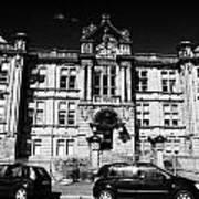 Former Kilmarnock Technical School And Academy Building Now Academy Apartments Scotland Uk Poster by Joe Fox