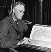 Franklin D. Roosevelt, 32nd American Poster by Photo Researchers