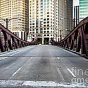 Franklin Orleans Street Bridge Chicago Loop Poster by Paul Velgos