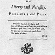 Franklin: Title Page, 1725 Poster by Granger