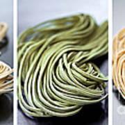 Fresh Tagliolini Pasta Poster by Elena Elisseeva