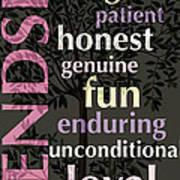 Friendship Poster by Bonnie Bruno