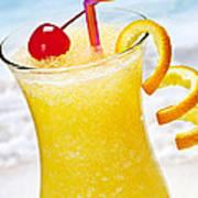 Frozen Tropical Orange Drink Poster by Elena Elisseeva