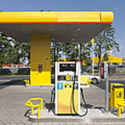 Fuel Pump At A Gas Station Poster by Jaak Nilson