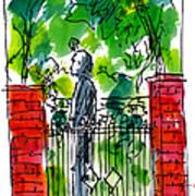 Garden Philadelphia Poster by Marilyn MacGregor