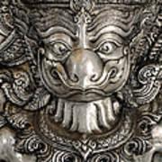Garuda Silver Poster by Panupong Roopyai