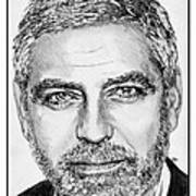 George Clooney In 2009 Poster by J McCombie