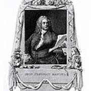 George Frideric Handel, German Baroque Poster by Omikron