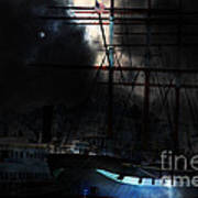 Ghost Ship Of The San Francisco Bay . 7d14032 Poster by Wingsdomain Art and Photography