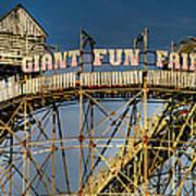 Giant Fun Fair Poster by Adrian Evans