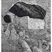 Gila Cliff Dwelings Big Room Poster by Jack Pumphrey